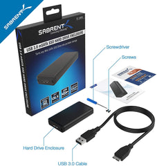 Sabrent USB 3.0 mSATA II or III/6G SSD Enclosure Adapter