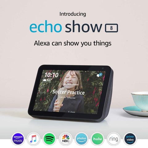 "Echo Show 8 - HD 8"" smart display with Alexa"