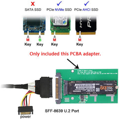 NVME U.2 to NGFF M.2 M-Key PCIe SSD Adapter