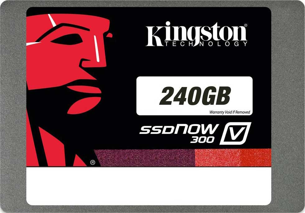 Kingston 240GB SSDNow V300 SATA 3 2.5in with Adapter Solid State Drive