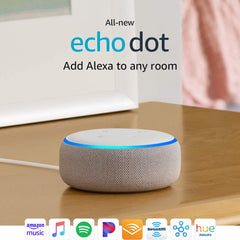 New Echo Dot (3rd Gen, Latest) - Smart Speaker with Alexa