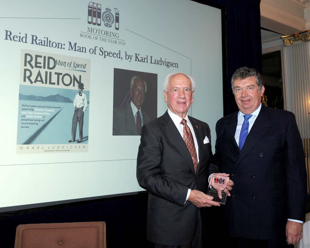 Karl Ludvigsen wins RAC award for Specialist Motoring Book of the Year