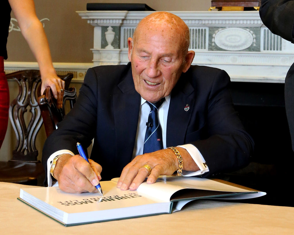 Sir Stirling Moss signings at London bookshops