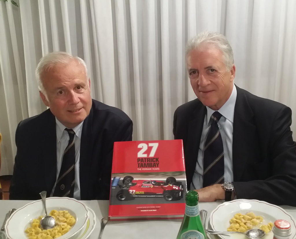 Patrick Tambay's book launched in Maranello