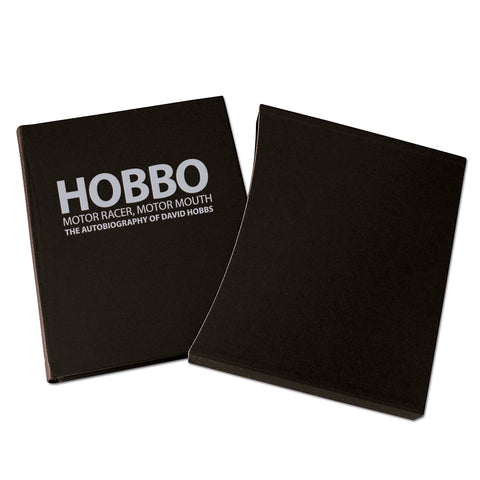 HOBBO Motor racer, motor mouth The autobiography of David Hobbs - LEATHER EDITION