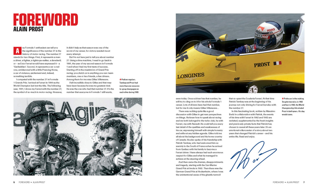 27: PATRICK TAMBAY – THE FERRARI YEARS – Signed