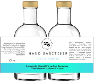 2 x 200mL - Hand Sanitiser - Glass Bottle - Twin Pack - Free Shipping!
