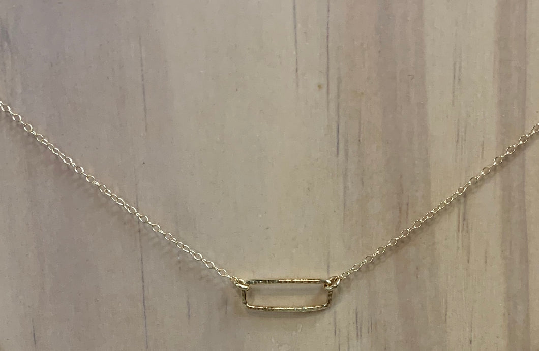 ABLE floating shape necklace- rectangle