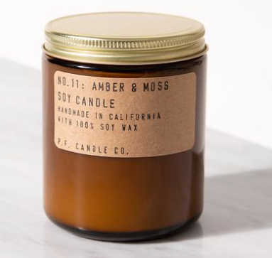 Amber and Moss PF candle