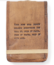 Load image into Gallery viewer, Mini leather journal