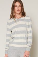 Load image into Gallery viewer, Current Air Soft Striped Hooded Sweater