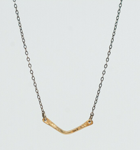 Load image into Gallery viewer, Brass Chevron Necklace