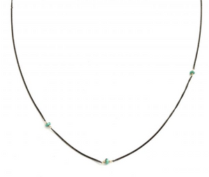 CLP baby turquoise on oxidized chain