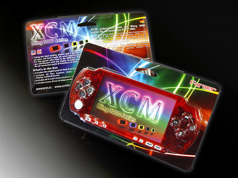 XCM Bling face plate for PSP 3000 series  Crystal Red