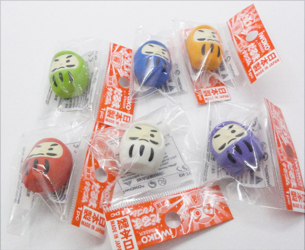 Cute lucky tumbler rubbers/erasers collection