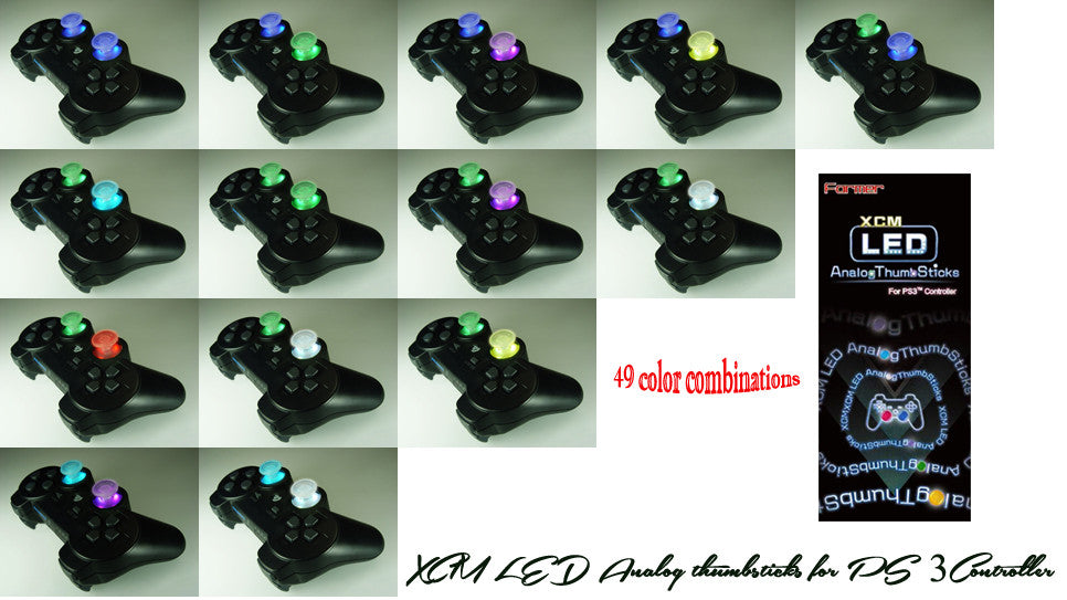 XCM LED Analog thumbsticks for PS 3