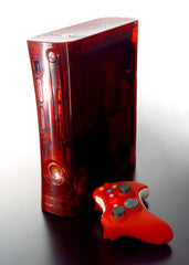 XCM 360 case  (For 1st Generation 360)  Ruby red + Sexy red controller