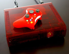 XCM 360 case  (For 1st Generation 360)  Ruby red + XCM supreme wireless shell (Chrome/Red)