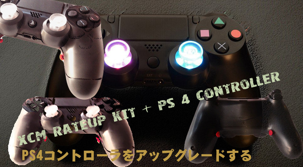 DS 4 controller + Rateup shelL (Black color controller)