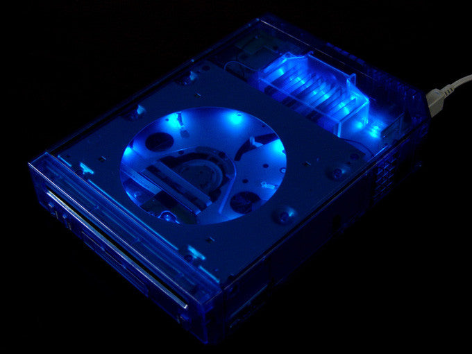 ii case (Crystal Blue with LED)