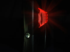 XCM SLIM CASE Black knight  with Red LED (for Xbox 360 Slim )