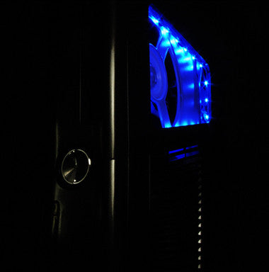 XCM SLIM CASE Black knight   with Blue LED   (for Xbox 360 Slim )