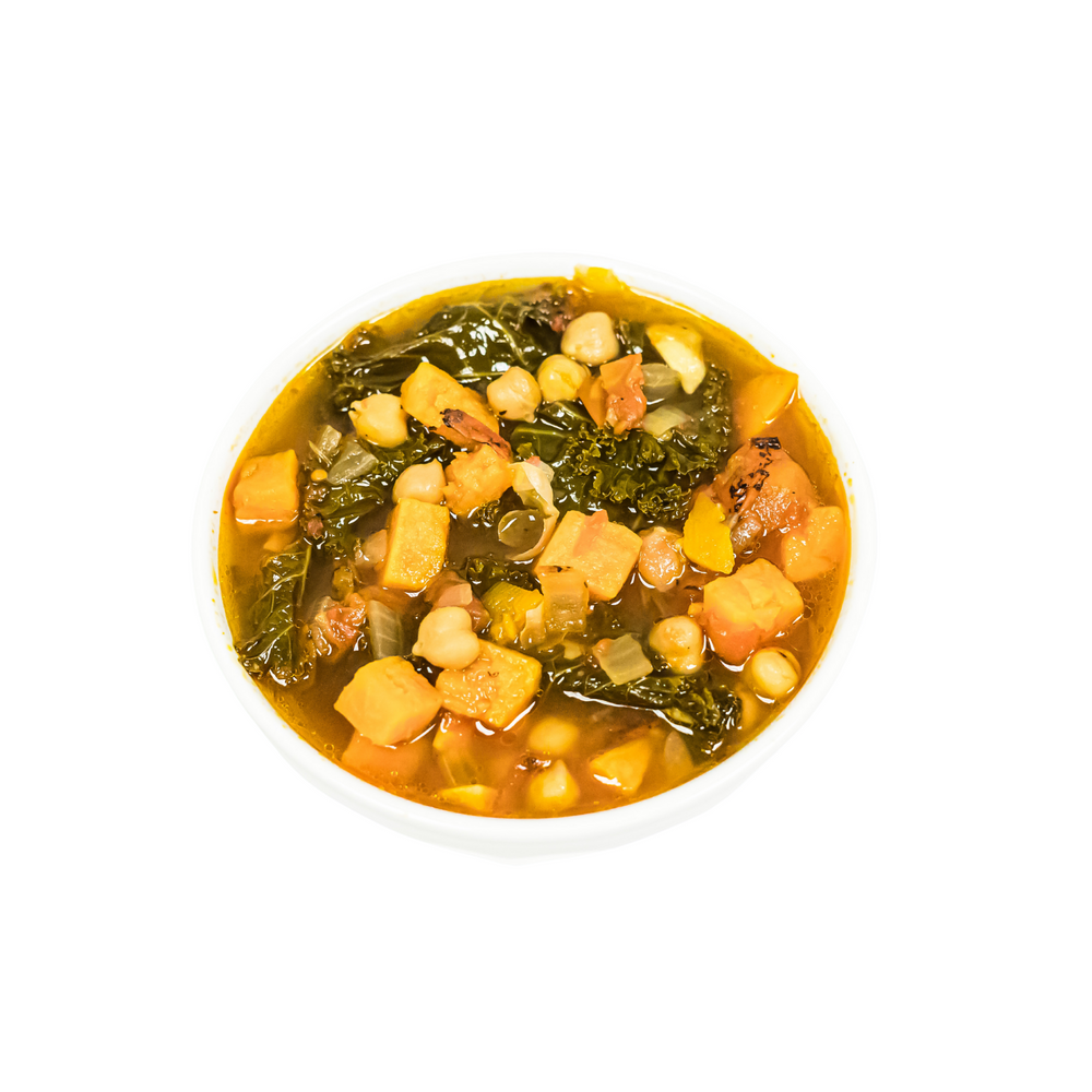 Kale Sweet Potato Chickpea Soup - Juice Journey
