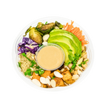 Quinoa Bowl with Roasted Vegetables with Dressing - Juice Journey