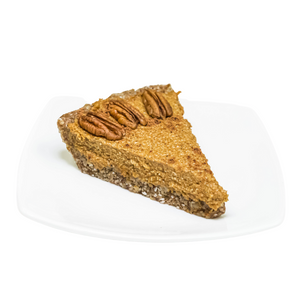 Vegan Pumpkin Pie Slice - Juice Journey