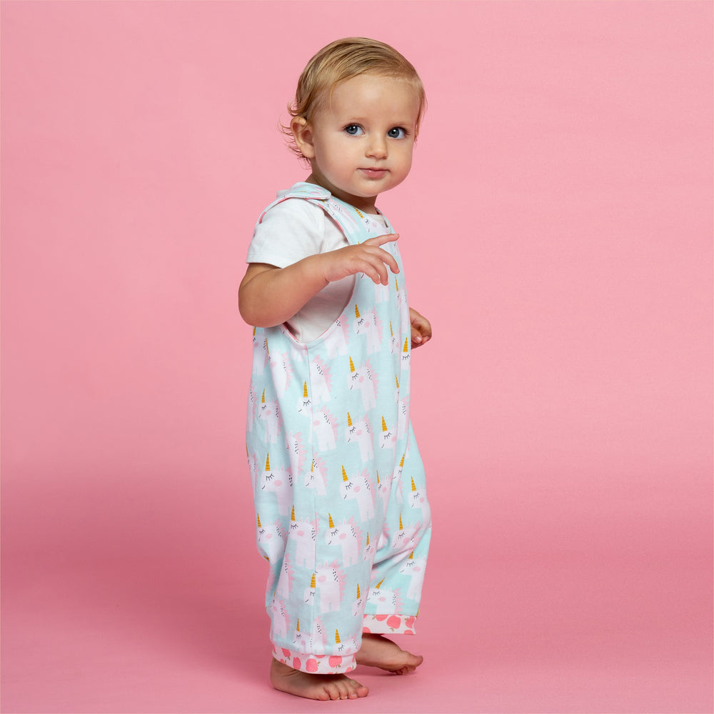 Unicorns and Apples Organic Reversible Romper