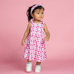 Giraffes and Strawberries Organic Reversible Dress