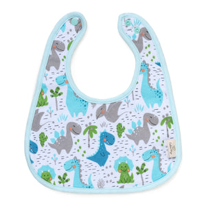 Load image into Gallery viewer, Dino and Cactus Organic Reversible Bib
