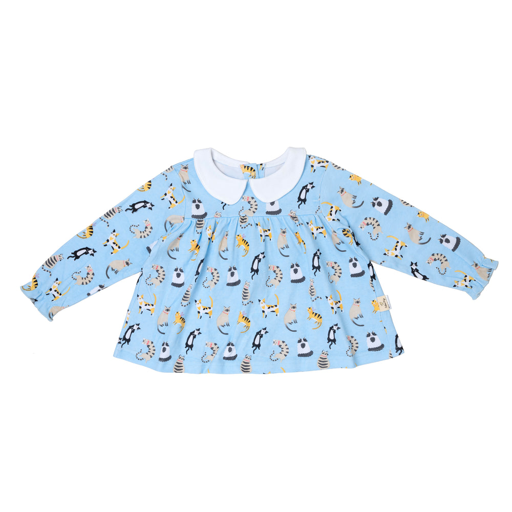 Load image into Gallery viewer, Funny Cats Teatime Blouse
