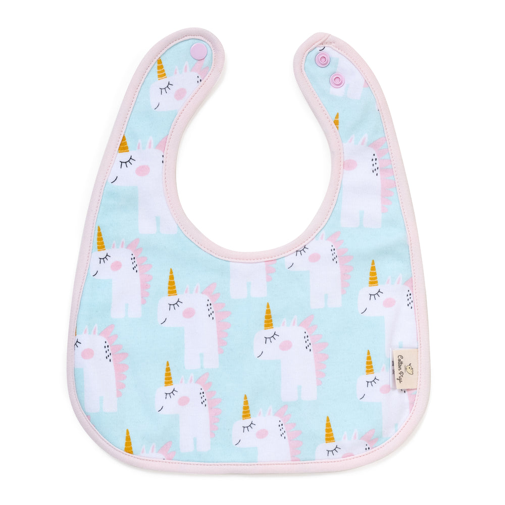 Load image into Gallery viewer, Unicorns and Apples Organic Reversible Bib