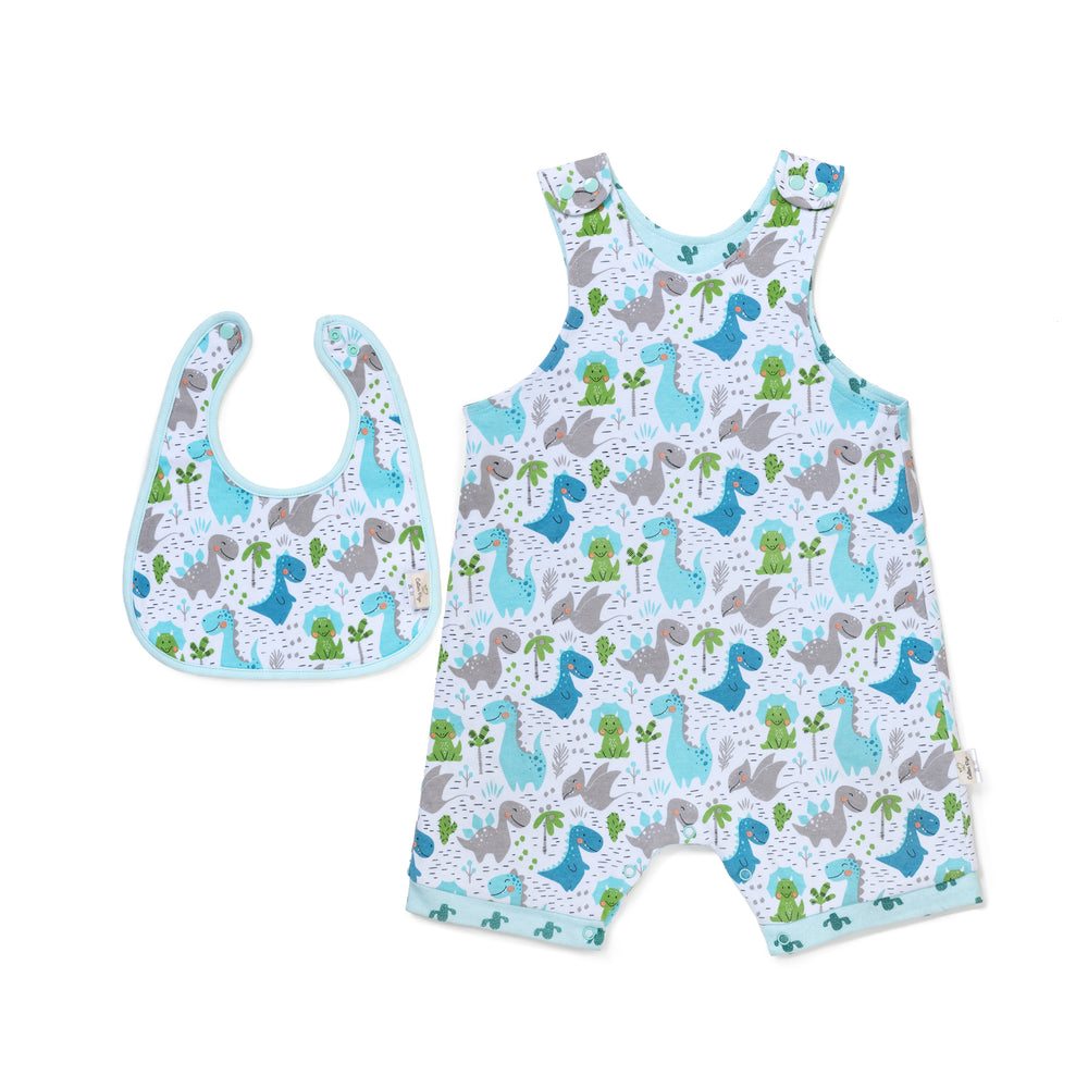 Dino and Cactus Reversible Bib Set