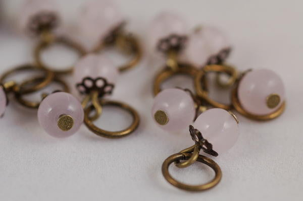 Knitter's Stitch Markers, Rose Quartz
