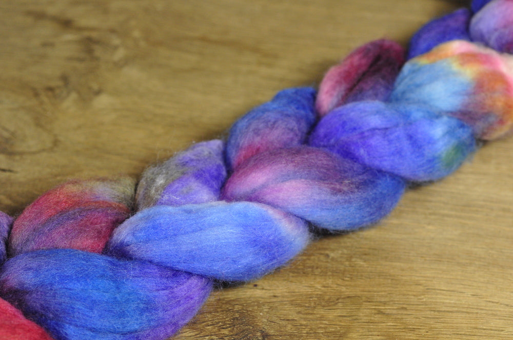Merino/Silk Top (50/50) for Hand Spinning - 'Aconite'