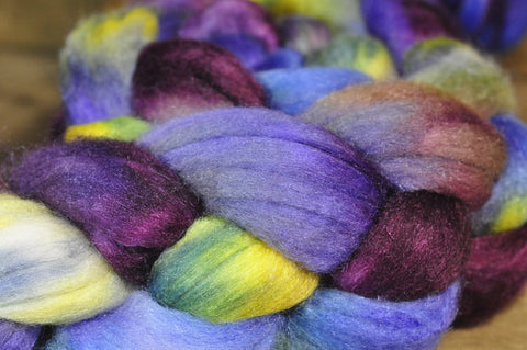 Merino/Silk Top (50/50) for Hand Spinning - 'Iris'