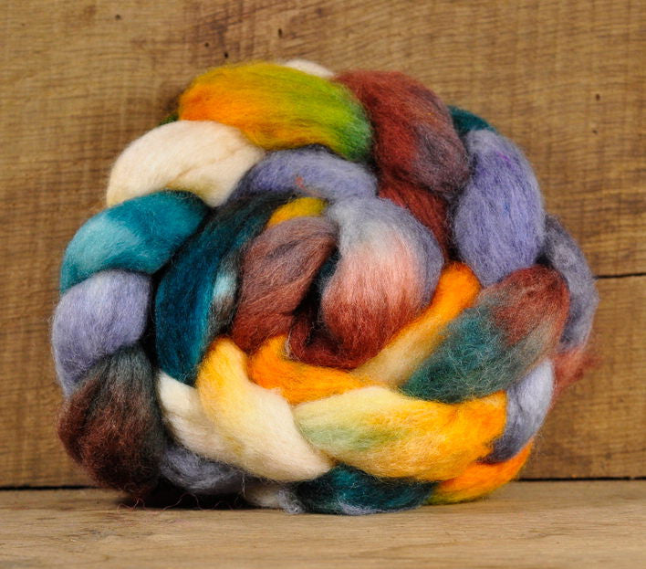 "BFL Wool Top for Hand Spinning - ""Mallard"""