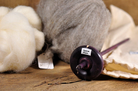 Beginner's Drop Spindle Kit - Purple