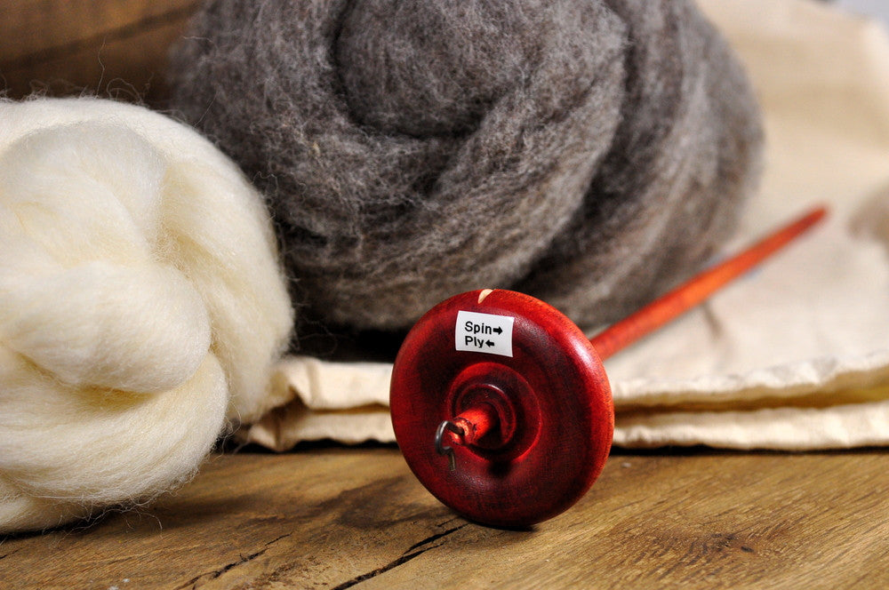 Beginner's Drop Spindle Kit - Red
