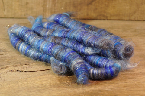 Carded Wool/Luxury Fibre Rolag Set - 'Winter Stars'