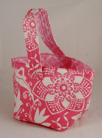 Spinner's Project Bucket Bag - Pink / White Floral