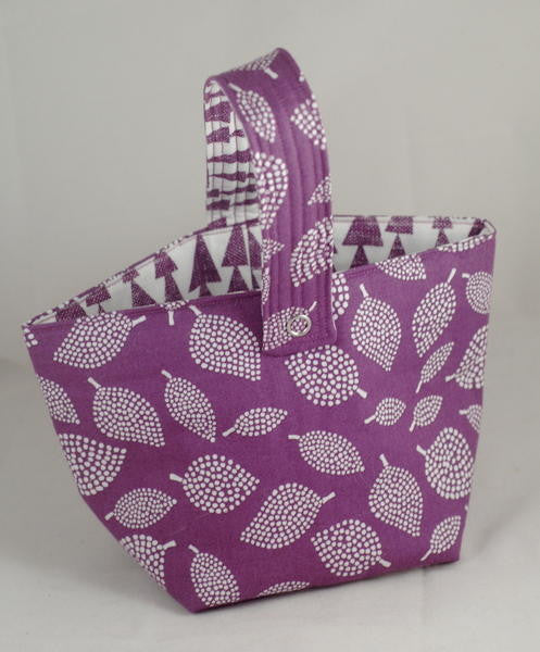 Spinner's Project Bucket Bag - Purple Leaves