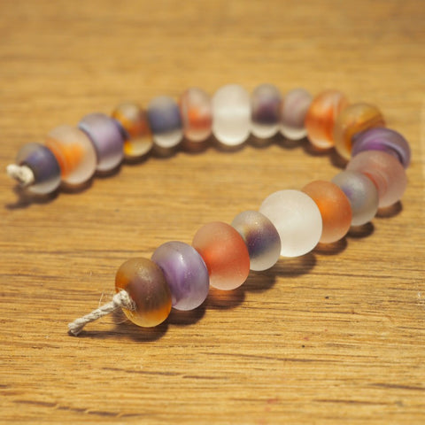 Handmade Lampwork Glass Beads - Misty Berry Shades