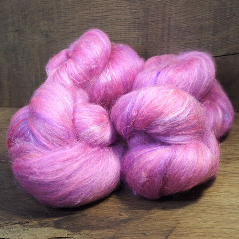 Carded Wool/Luxury Fibre Batt Set, 100g - 'Paeony'