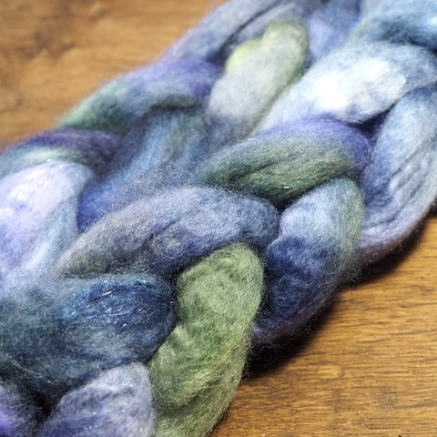 BFL Wool / Sparkly Nylon Top - 'Lavender'