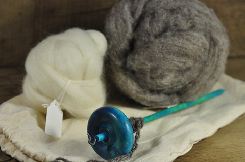 Beginner's Drop Spindle Kit - Turquoise
