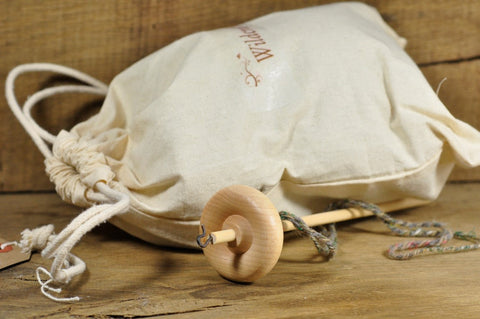 Beginner's Drop Spindle Kit - Natural