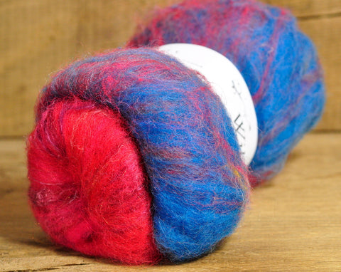 Carded Wool/Luxury Fibre Mystery Batt 50g - 'Folk Pattern'